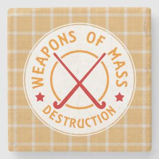 Weapons of Mass Destruction Field Hockey Stone Coaster