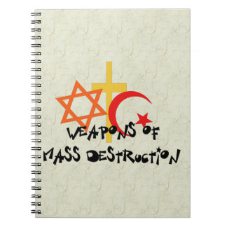 Weapons Of Mass Destruction Spiral Note Books