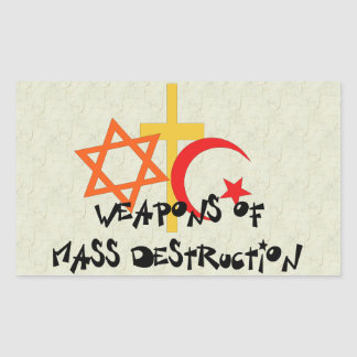 Weapons Of Mass Destruction Rectangular Sticker