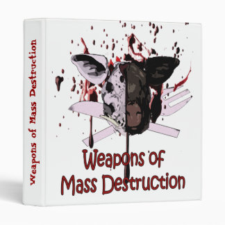 Weapons of Mass Destruction Ring Binder