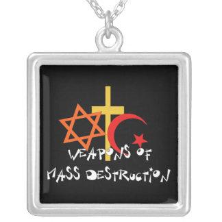 Weapons Of Mass Destruction Square Pendant Necklace