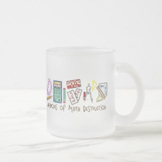 Weapons Of Math Destruction 10 Oz Frosted Glass Coffee Mug