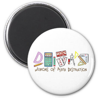 Weapons Of Math Destruction 2 Inch Round Magnet