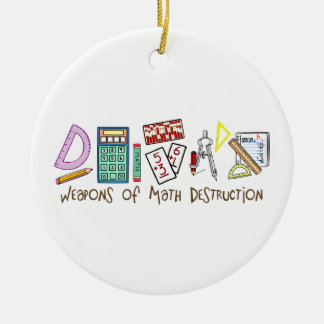 Weapons Of Math Destruction Double-Sided Ceramic Round Christmas Ornament