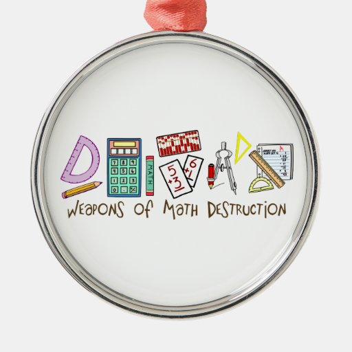 Weapons Of Math Destruction Christmas Tree Ornaments