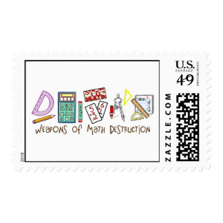 Weapons Of Math Destruction Postage Stamp