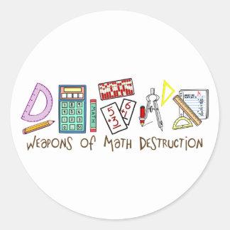 Weapons Of Math Destruction Round Stickers