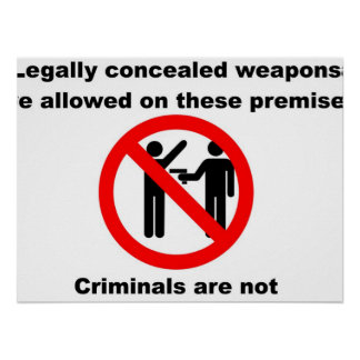 Weapons Permitted Posters