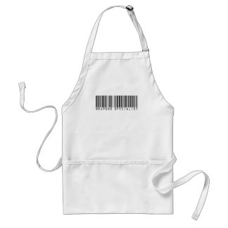 Weapons Specialist  Bar Code Adult Apron