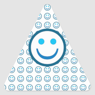 Wear a Great SMILE : ENJOY n Share your JOYS Triangle Sticker
