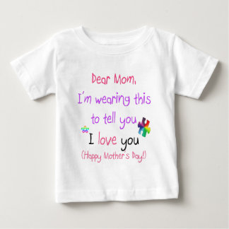 Wear a Love Letter to Mom Baby T-Shirt