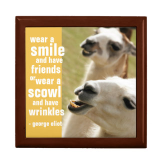 Wear a Smile and Have Friends George Eliot Quote Jewelry Box