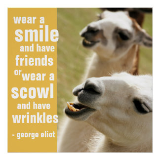 Wear a Smile and Have Friends George Eliot Quote Poster
