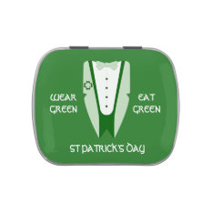 Wear Green, Eat Green For St Patricks Day Jelly Belly Candy Tin at Zazzle