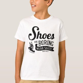Wear Hockey Skates Shoes Are Boring Youth T-Shirt