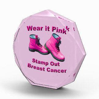 Wear It Pink Stamp Out Breast Cancer Award