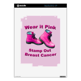 Wear It Pink Stamp Out Breast Cancer Decals For iPad 2