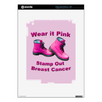Wear It Pink Stamp Out Breast Cancer iPad 2 Decal