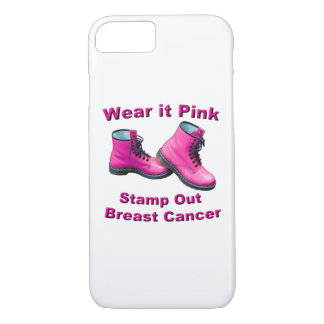 Wear It Pink Stamp Out Breast Cancer iPhone 8/7 Case