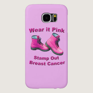 Wear It Pink Stamp Out Breast Cancer Samsung Galaxy S6 Case