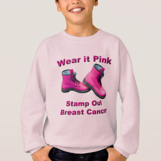 Wear It Pink Stamp Out Breast Cancer Sweatshirt