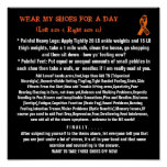 WEAR MY SHOES FOR A DAY(Left size 9... Poster