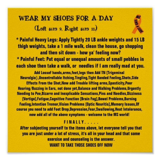 WEAR MY SHOES FOR A DAY MS Poster
