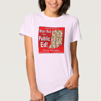 Wear Red For Public Ed (Indiana) T Shirt