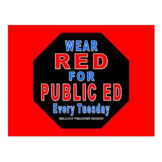 Wear Red for Public Ed Postcard
