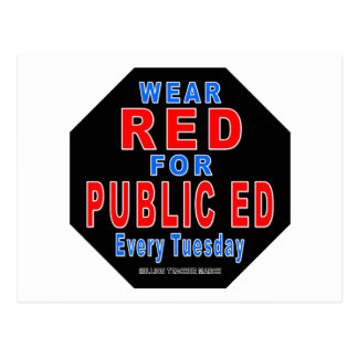 Wear Red for Public Ed Postcard