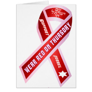 Wear Red On Thursday! Card