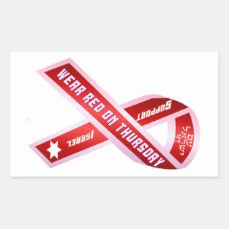 Wear Red On Thursday! Rectangular Sticker