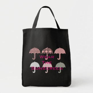 Wear the Sunscreen Beach Vacation Pink Tote Bag
