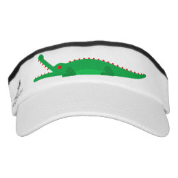 wear without fear, Crocodile uncommon art Visor