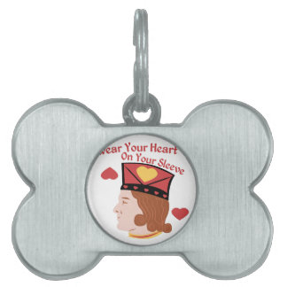 Wear Your Heart Pet Name Tag