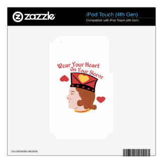 Wear Your Heart iPod Touch 4G Skins