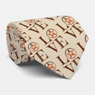 Wear your Texas Pride w/ Lone Star LOVE (tan) Tie