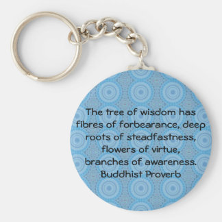 Wearable Buddhist Wisdom - The tree of wisdom Basic Round Button Keychain