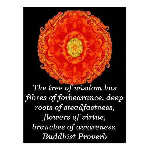 Wearable Buddhist Wisdom - The tree of wisdom Postcards
