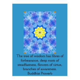Wearable Buddhist Wisdom - The tree of wisdom Postcard