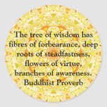 Wearable Buddhist Wisdom - The tree of wisdom Round Stickers