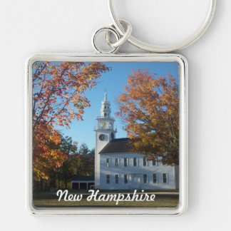 Wearin New Hampshire Llavero Cuadrado Plateado