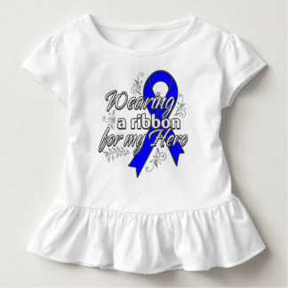 Wearing a Blue Awareness Ribbon for My Hero Tee Shirts