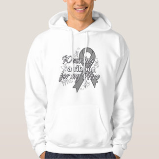 Wearing a Gray Awareness Ribbon For My Hero Hooded Pullover