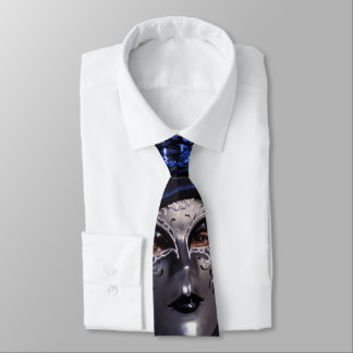 Wearing Blue at the Carnival of Venice Tie