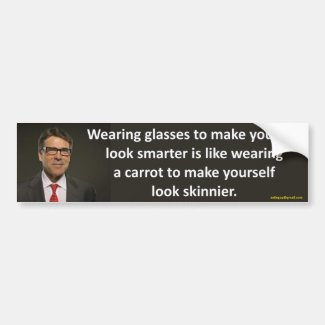wearing glasses...