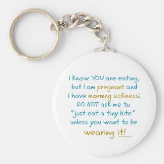 Wearing it morning sickness key chain