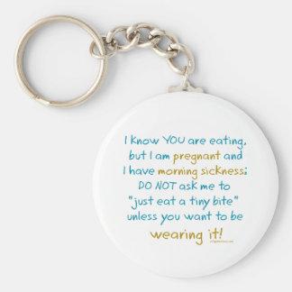 Wearing it morning sickness keychain