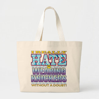 Wearing Knickers Hate Face Jumbo Tote Bag