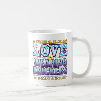 Wearing Knickers Love Face Classic White Coffee Mug